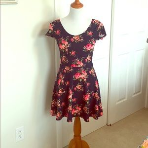 Navy floral dress from Macy's